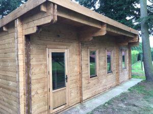 Log Cabin Pent roof pimlico range