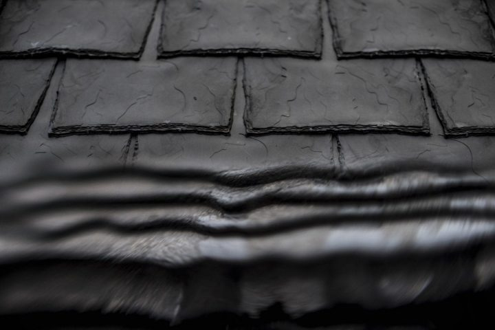 Eco slate rubber effect tiles